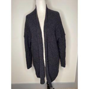 Free people oversized Grey Wool Open Cardigan Fuzz